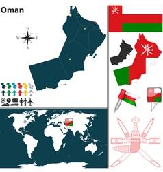 Oman map world vector image vector image
