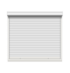 realistic window roller shutters front vector image