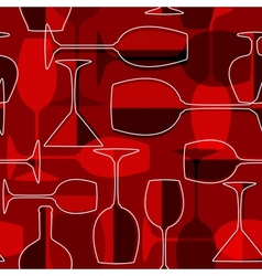 Seamless wineglass background vector image vector image