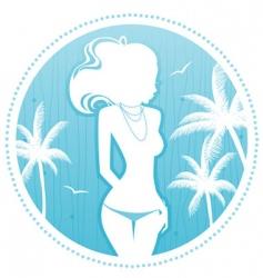 summer women palm vector image vector image