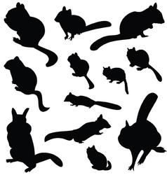Chipmunk Silhouette Animal Clip Art vector image