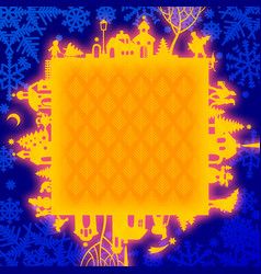 christmas and new years frame vector image vector image