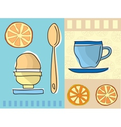 Coffee and breakfast vector image