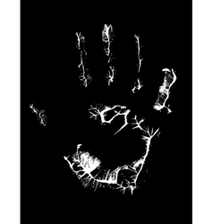 fat human hand imprint on black vertical vector image vector image