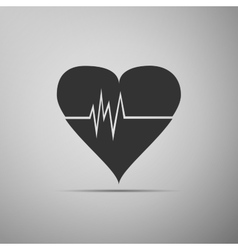 Heart Rate icon vector image vector image
