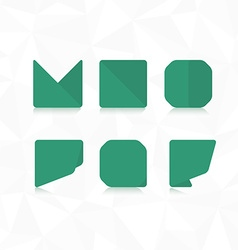Polygonal font flat font vector image vector image
