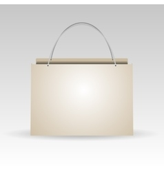 Empty plastic or paper shopping bag on white vector image