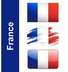 Flag France vector image