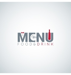 food and drink menu wine plate background vector image