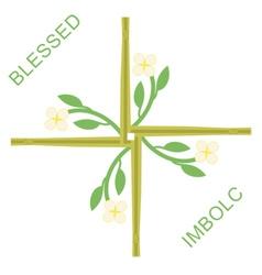 Imbolc greeting card vector image vector image