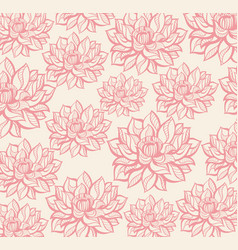 lotus pattern vector image vector image