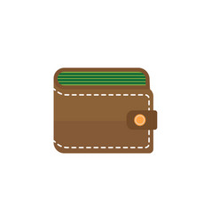 Purse flat icon business financial vector
