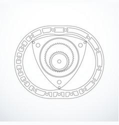 rotary wankel engine vector image vector image