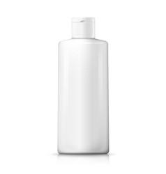 3d realistic white plastic shampoo bottle vector