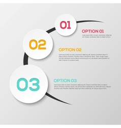 Abstract 3d infographics vector