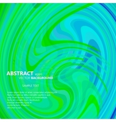 Abstract green and blue swirl vector