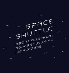 alien italic font alphabet vector image