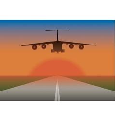 An airplane landing vector