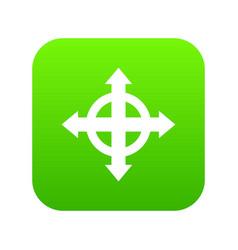 arrows target icon digital green vector image