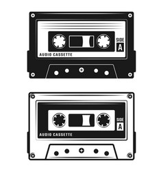 Audio cassette tape two style vector