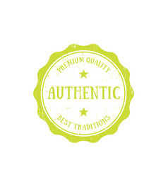 authentic vintage emblem badge on white vector image
