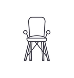 baby chair in room line icon concept baby chair vector image