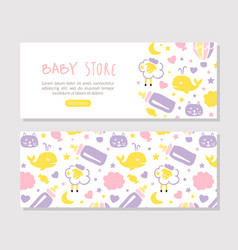baby store landing page template kids products vector image