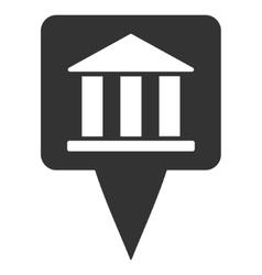 Bank Building Pointer Flat Icon vector
