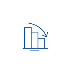 bars descending graph line icon concept bars vector image