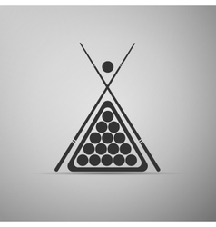 Billiard cue and balls icon vector image