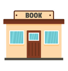 book shop icon flat style vector image