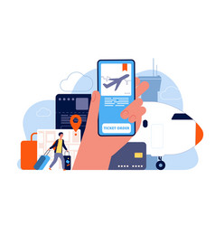 booking tickets plane reservation online ordered vector image