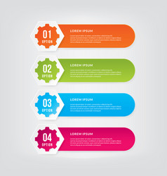 business concept with 4 options vector image