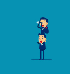 Business team supporting to success concept vector