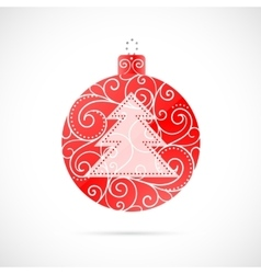 Christmas decoration as symbol for winter holidays vector image