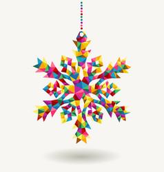 Christmas holidays triangle snowflake vector