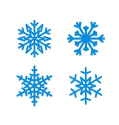 Christmas snowflakes isolated set vector image
