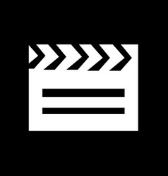 cinema clapboard icon design vector image