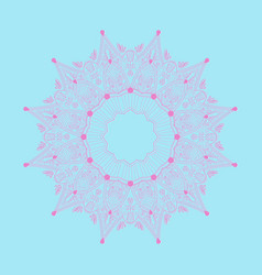 circle ornament abstraction for cover pink vector image