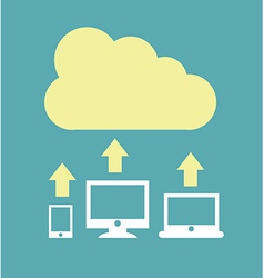 cloud design vector image