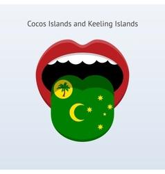 Cocos and Keeling Islands language vector