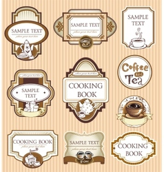 Coffee lables vector