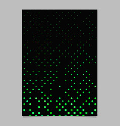 color dot pattern brochure template - cover vector image