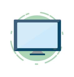 computer monitor tech vector image