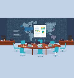 Conference room company for business negotiations vector