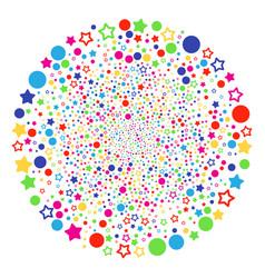 confetti stars bang sphere vector image