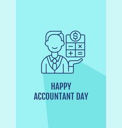 Congratulations to accountants postcard vector