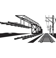 Construction railway track vector