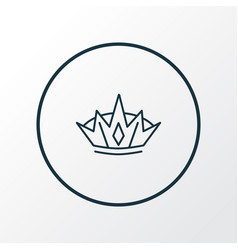 crown icon line symbol premium quality isolated vector image