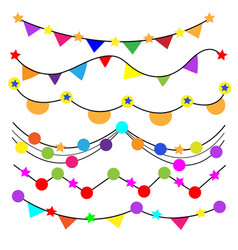 Decorate party in different colors on white vector